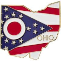 State - Ohio State Shape Lapel Pin
