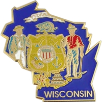 State - Wisconsin State Shape Lapel Pin