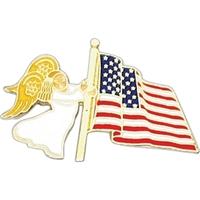 Angel - US Flag Angel Lapel Pin