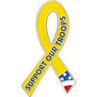 Awareness - Support Our Troops Lapel Pin
