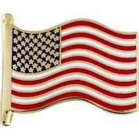 American Flag Pin - Cloisonne Hard Enamel