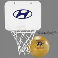 Hoop and basketball