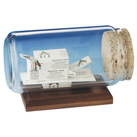 Business Card Sculpture in a Bottle