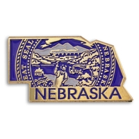 State - Nebraska State Shape Lapel Pin