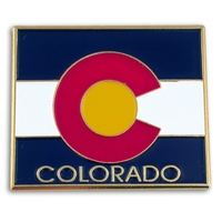 State - Colorado State Shape Lapel Pin