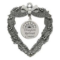 Heart Wreath with Silk Screen Dangle Ornament