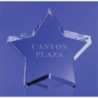 Large Crystal Star Paperweight