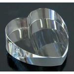Crystal Tilt Heart Paperweight