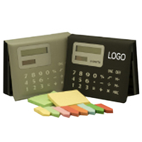 Calculator with Sticky note pad & page markers