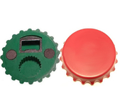 Jumbo size bottle cap magnetic bottle opener