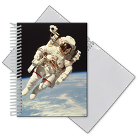 Photo album with blank stock 3D lenticular cover