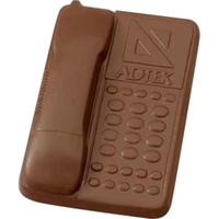 Molded chocolate desk phone