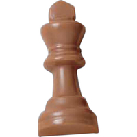 Molded Chocolate Chess King Piece Cello Wrapped