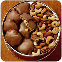 28 oz. Deluxe Mix Nuts & Peanut Caramel Patties