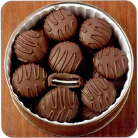 25 oz. Chocolate Covered Cookies in Designer Tin