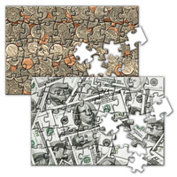 Puzzle with Blank Stock 3D Lenticular Design