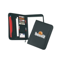 Poly Multi-Pocket Zippered Padfolio