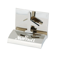 Chrome Airplane Business Card Holder