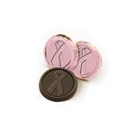 Pink Ribbon Awareness Chocolate Coin