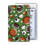 Luggage Tag with Sports 3D Lenticular Effect