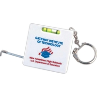 Tape measure level keychain