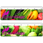 "6"" Ruler with Assorted Vegetables Design, 6 inch"