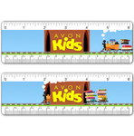 """6"""" Ruler with Book Train Tunnel Design"""