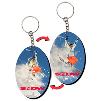 "2""x3"" Key Tag / Key Chain with Oval Shape"