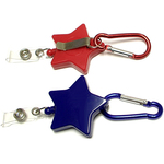 Star shape retractable badge holder with carabiner
