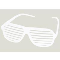 White Slotted Sunglasses - E615