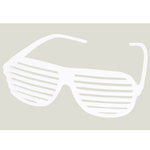 White Slotted Sunglasses - E615