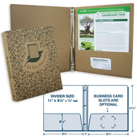 Recycled paper binder