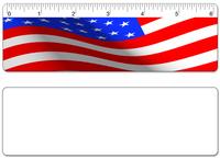 "6"" Ruler with USA Flag Design"