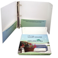 Paper binder with wrap-around flap