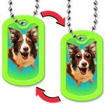 Dog Tag with Dog Eyes Design