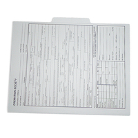 File folder with second tab position