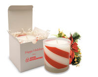 Candy Cane Holiday Candle Gift