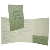Small three panel folder with pocket
