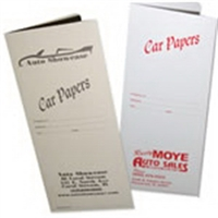 Car Papers Document Folders