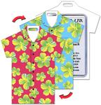 Luggage Tag with Hawaiian Design, T-Shirt Shaped