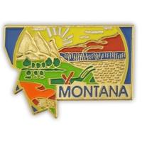 State - Montana State Shape Lapel Pin