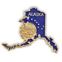 State - Alaska State Shape Lapel Pin