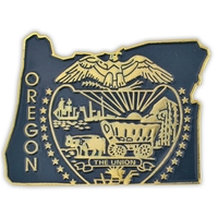 State - Oregon State Shape Lapel Pin