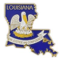 State - Louisiana State Shape Lapel Pin