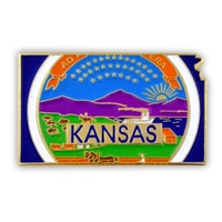 State - Kansas State Shape Lapel Pin