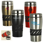 Stainless Steel Double-Wall Tumbler with Rubber Grip
