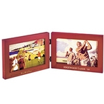 Solid wood double window picture frame