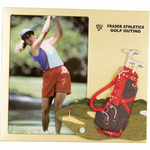 Metal picture frame with golf decoration