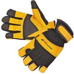Premium Black Grain Pigskin Mechanic Gloves