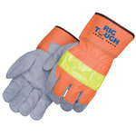 3M Scotchlite safety split leather work gloves
